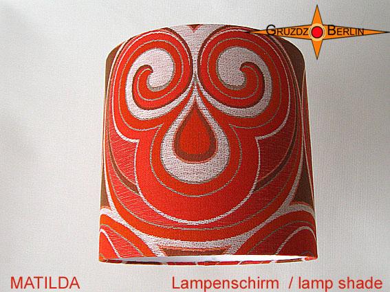 - Vintage Lampenschirm MATILDA Ø35 cm Retrodesign 70er Pantonstil Lampe - Vintage Lampenschirm MATILDA Ø35 cm Retrodesign 70er Pantonstil Lampe