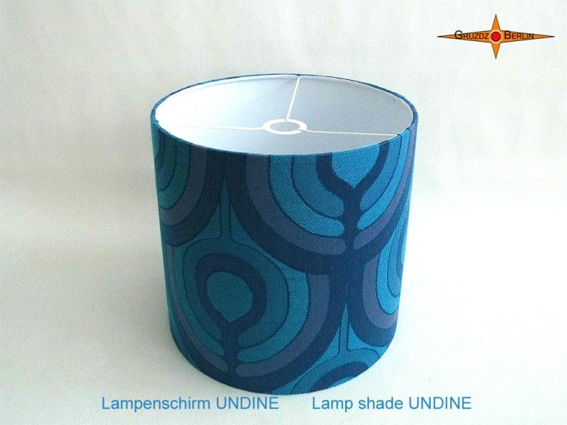 - Blauer Vintage Lampenschirm UNDINE Ø35 cm Retrodesign 70er Pantonstil Lampe - Blauer Vintage Lampenschirm UNDINE Ø35 cm Retrodesign 70er Pantonstil Lampe