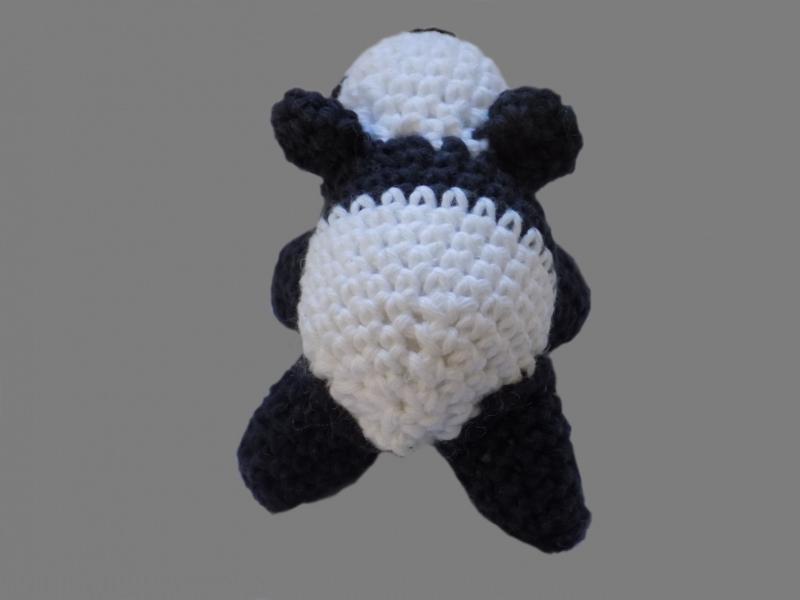 Kleinesbild - Handgemachter Panda , Amigurumi , gehäkelt , Schwarz , Weiß