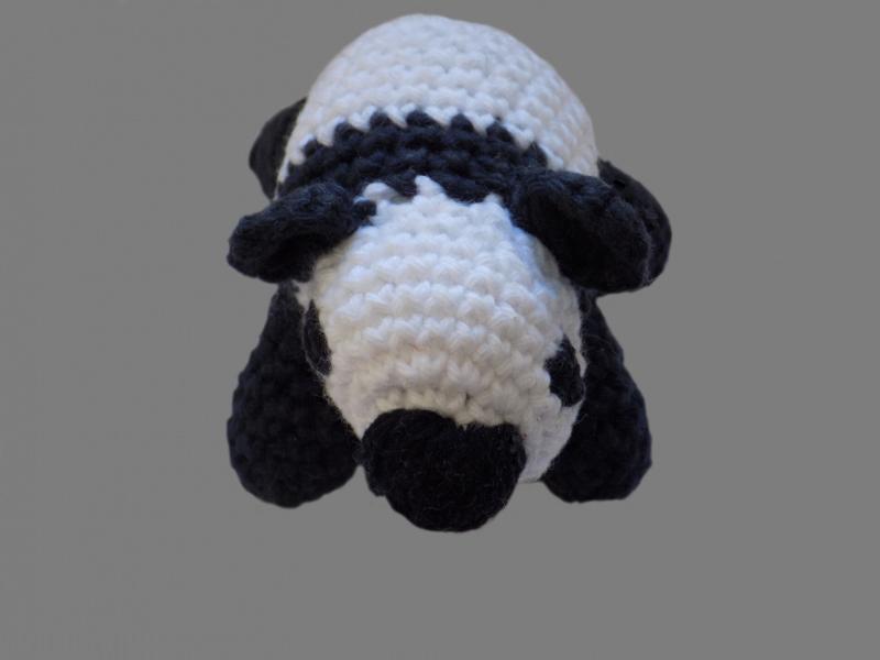 - Handgemachter Panda , Amigurumi , gehäkelt , Schwarz , Weiß - Handgemachter Panda , Amigurumi , gehäkelt , Schwarz , Weiß