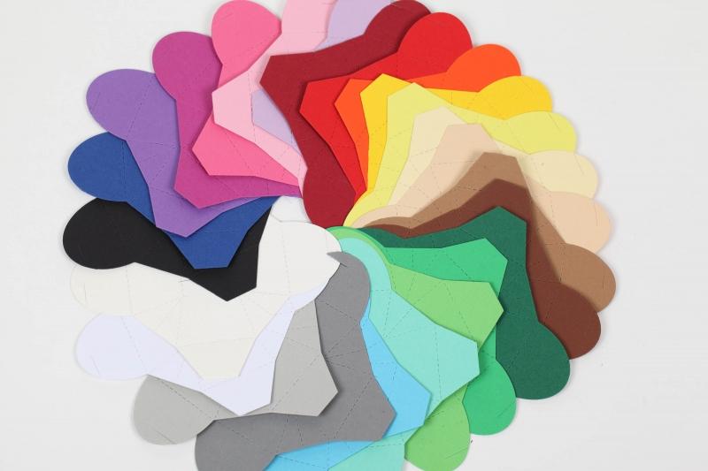 Kleinesbild - 50 Pralinenschachteln aus Tonkarton Farbe frei wählbar - kleine Schachteln
