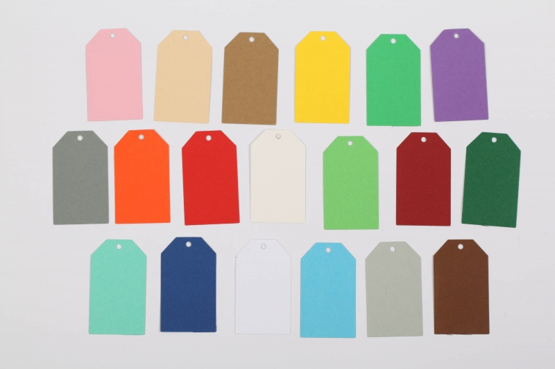 - 50 gestanzte Geschenkanhänger blanko - viele Farben möglich - 50 gestanzte Geschenkanhänger blanko - viele Farben möglich
