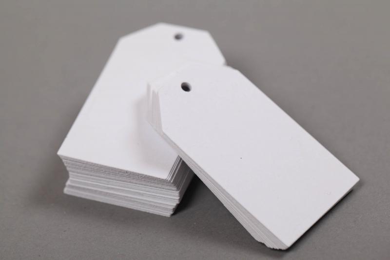 Kleinesbild - 50 gestanzte Geschenkanhänger blanko - viele Farben möglich
