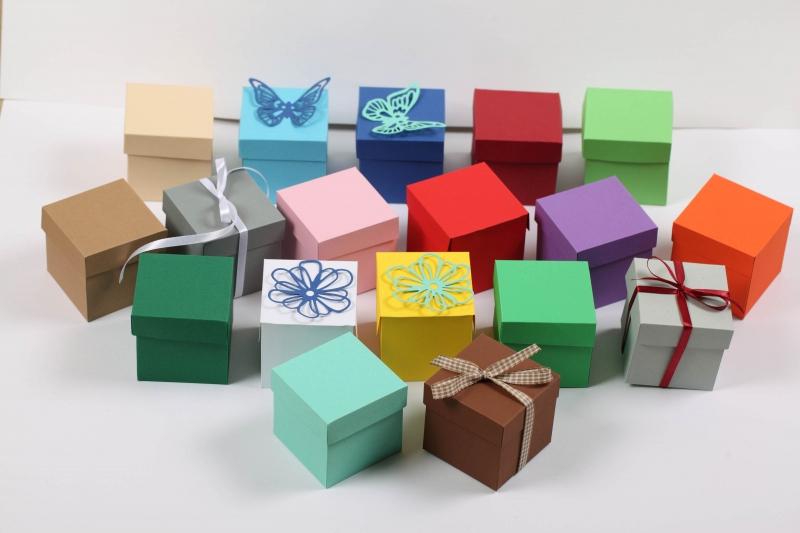 - 10 gestanzte Rohlinge zum Basteln von Geschenkboxen Farbe frei wählbar (ungeklebt), Stanzteile - 10 gestanzte Rohlinge zum Basteln von Geschenkboxen Farbe frei wählbar (ungeklebt), Stanzteile