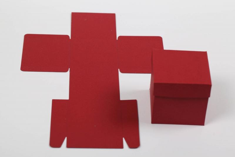 Kleinesbild - 10 gestanzte Rohlinge zum Basteln von Geschenkboxen Farbe frei wählbar (ungeklebt), Stanzteile