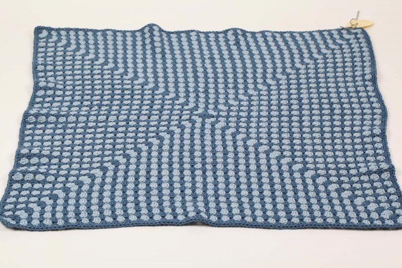 Kleinesbild - selbst gehäkelte Decke für den Kinderwagen, warm und kuschelig mit kuschelwolle für Ihr Baby