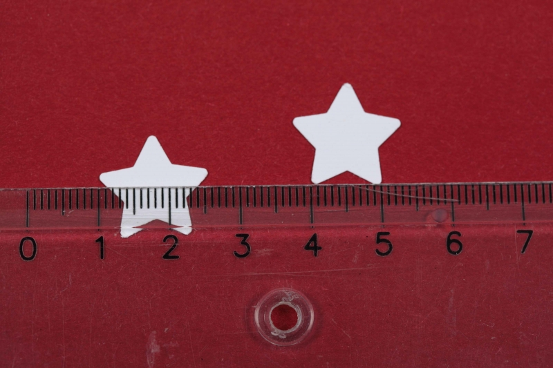 Kleinesbild - 3000 mini Sterne als Streudeko, Tischdeko zu Weihnachten, Konfetti, Stanzteile zur Kartengestaltung...