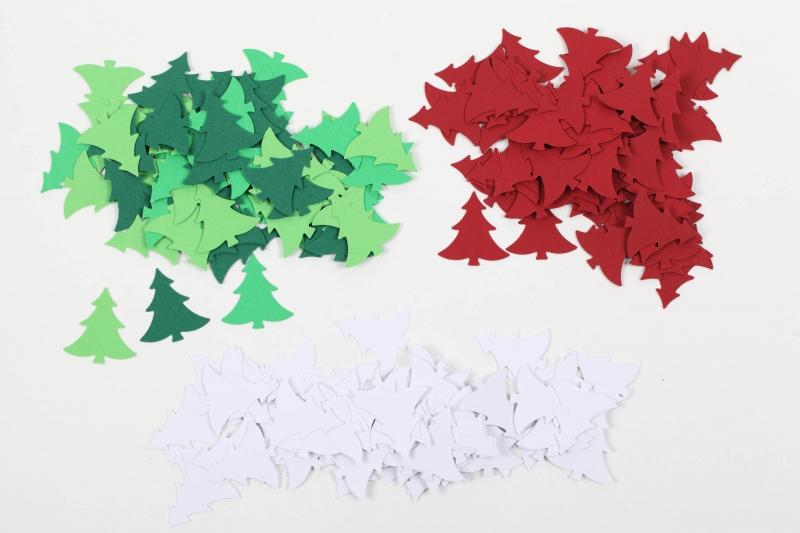 - 100 Tannenbäume als Streudeko, Tischdeko zu Weihnachten, Konfetti, Stanzteile zur Kartengestaltung..Weihnachtsbäume, Bäume, - 100 Tannenbäume als Streudeko, Tischdeko zu Weihnachten, Konfetti, Stanzteile zur Kartengestaltung..Weihnachtsbäume, Bäume,