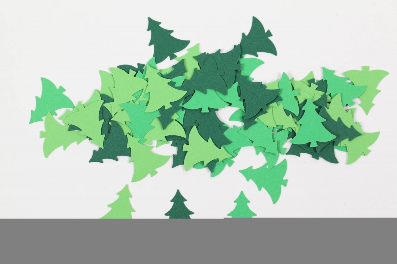 Kleinesbild - 100 Tannenbäume als Streudeko, Tischdeko zu Weihnachten, Konfetti, Stanzteile zur Kartengestaltung..Weihnachtsbäume, Bäume,