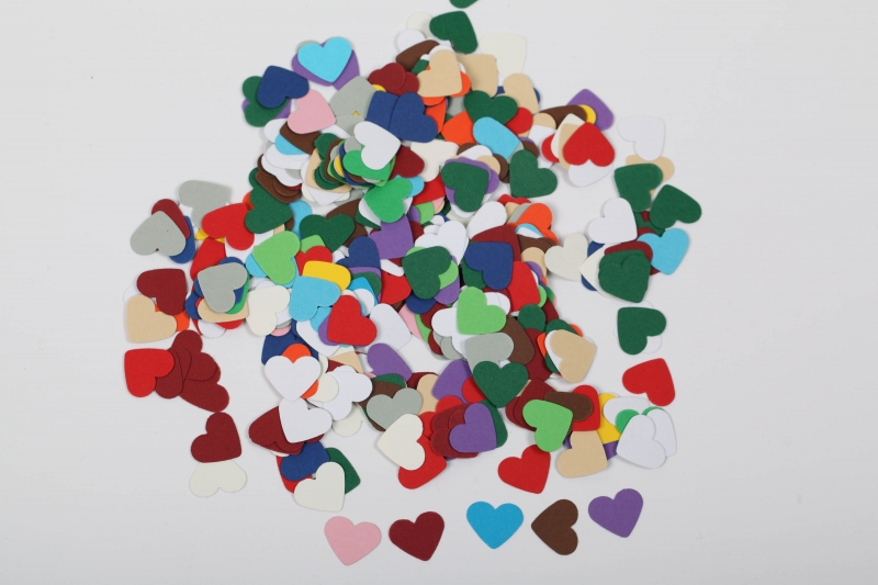 Kleinesbild - 300 mini Herzen als Streudeko, Tischdeko , Konfetti, Stanzteile zur Kartengestaltung