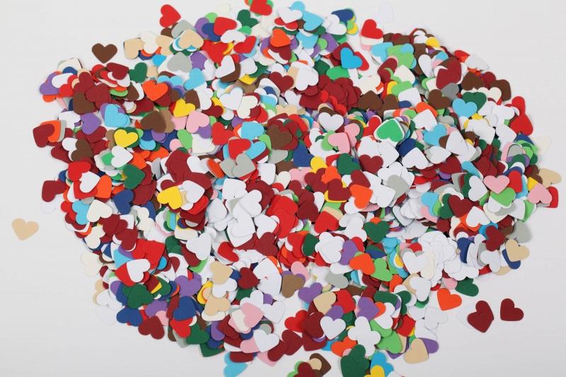 - 300 mini Herzen als Streudeko, Tischdeko , Konfetti, Stanzteile zur Kartengestaltung - 300 mini Herzen als Streudeko, Tischdeko , Konfetti, Stanzteile zur Kartengestaltung