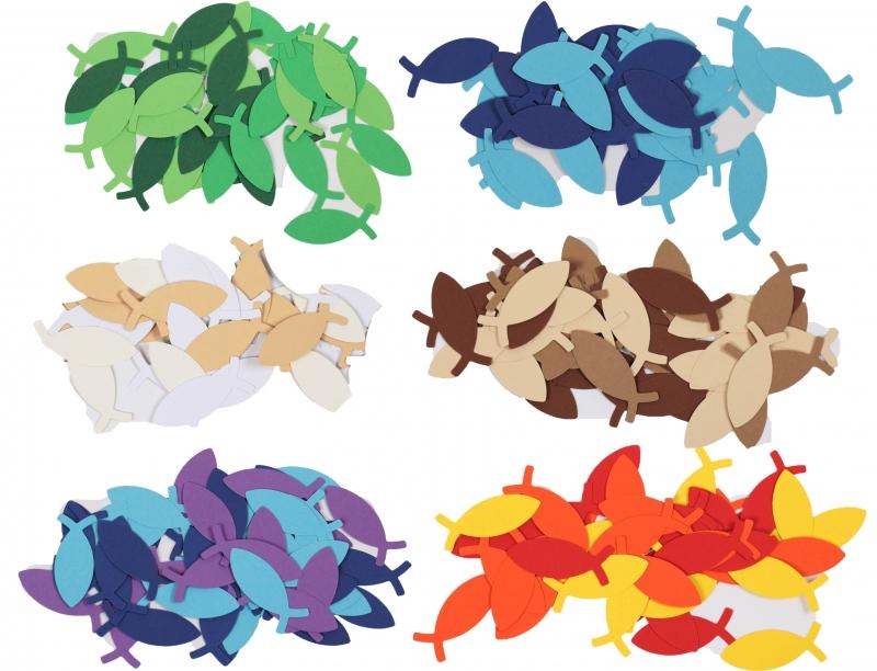 - 100 Fische als Streudeko (5 cm lang),, Konfetti, Stanzteile zur Kartengestaltung für viele Anlässe - 100 Fische als Streudeko (5 cm lang),, Konfetti, Stanzteile zur Kartengestaltung für viele Anlässe