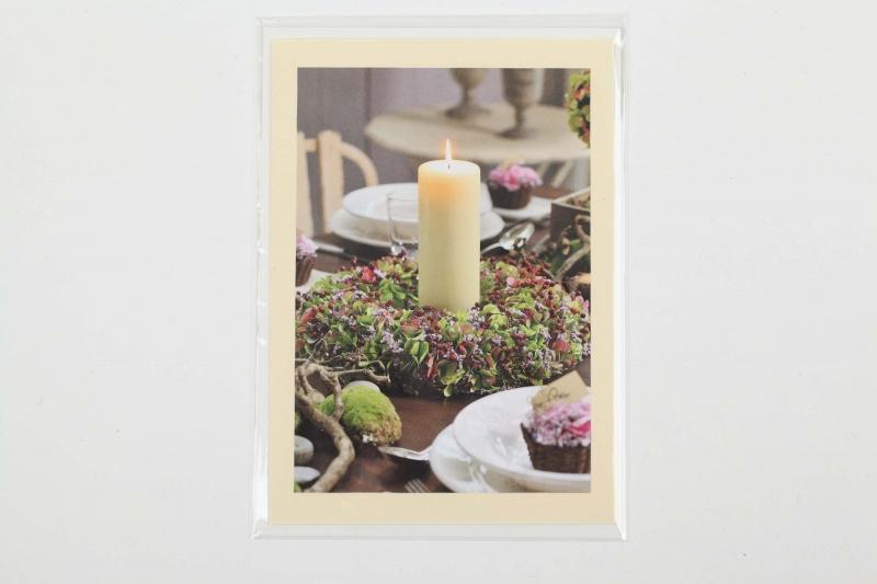 - Grußkarte, upcycled aus einem Kalender  Karte mit Blumen Klappkarte Faltkarte Blumenkarte herbstliche Karte - Grußkarte, upcycled aus einem Kalender  Karte mit Blumen Klappkarte Faltkarte Blumenkarte herbstliche Karte