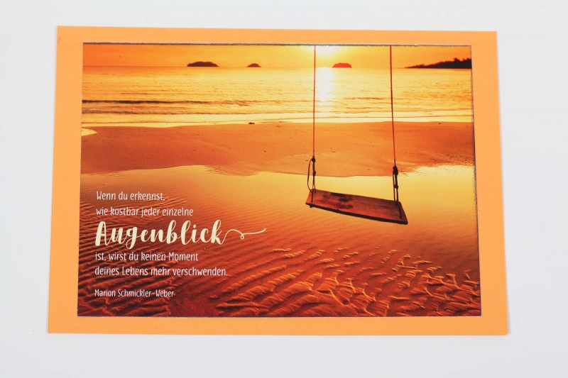 - Grußkarte, upcycled aus einem Kalender  Karte Klappkarte Faltkarte Strand Spruchkarte  - Grußkarte, upcycled aus einem Kalender  Karte Klappkarte Faltkarte Strand Spruchkarte