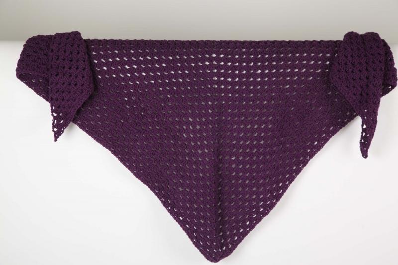 - XL Dreieckstuch gehäkeltes Schultertuch, Tuch, Stola mit feiner Wolle und Baumwolle  - XL Dreieckstuch gehäkeltes Schultertuch, Tuch, Stola mit feiner Wolle und Baumwolle