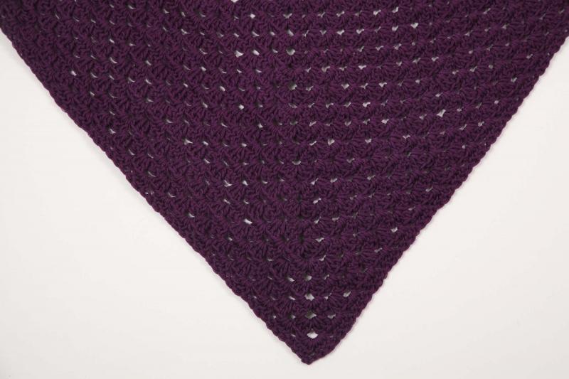 Kleinesbild - XL Dreieckstuch gehäkeltes Schultertuch, Tuch, Stola mit feiner Wolle und Baumwolle