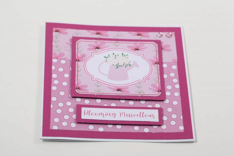 Kleinesbild - Grußkarte 3D Karte in Handarbeit hergestellt Blumenkarte Glückwunschkarte, Klappkarte