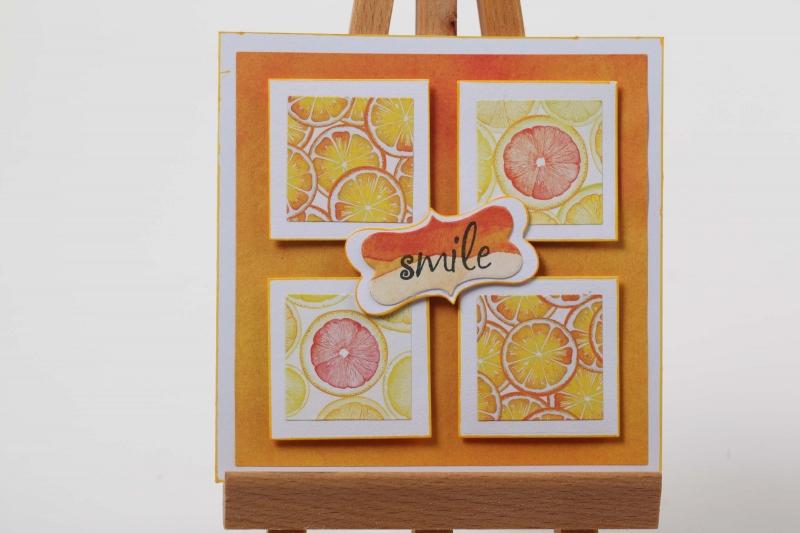 - Grußkarte 3D Karte in Handarbeit hergestellt Smile  - Grußkarte 3D Karte in Handarbeit hergestellt Smile