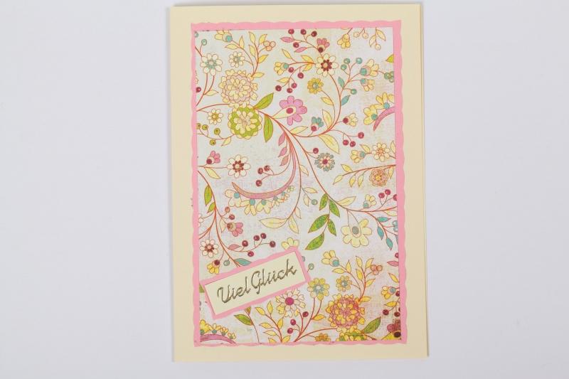 - schlicht aber schöne Glückwunschkarte Grußkarte mit Sticker  - schlicht aber schöne Glückwunschkarte Grußkarte mit Sticker