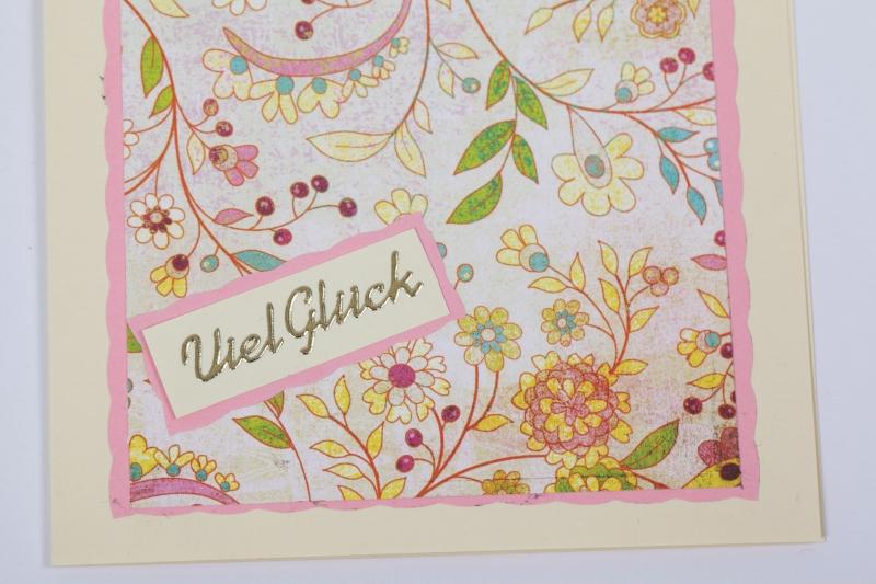 Kleinesbild - schlicht aber schöne Glückwunschkarte Grußkarte mit Sticker
