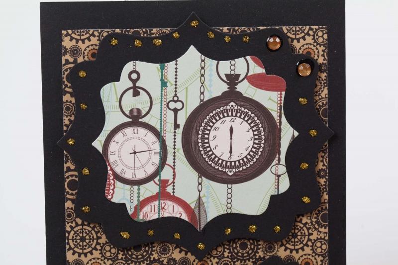 Kleinesbild - nostalgische Grußkarte Karte in Handarbeit hergestellt mit Spitze verziert