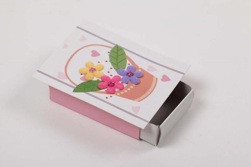 Kleinesbild - kleine Geschenkverpackung für kleine Kostbarkeiten oder Geld - Streichholzschachtel