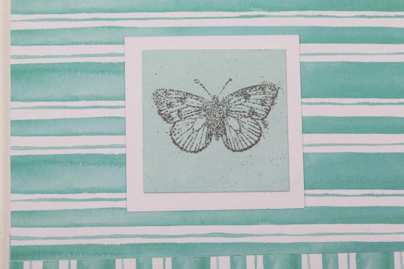 Kleinesbild - edle Geburtstagskarte mit Schmetterling und Stickern