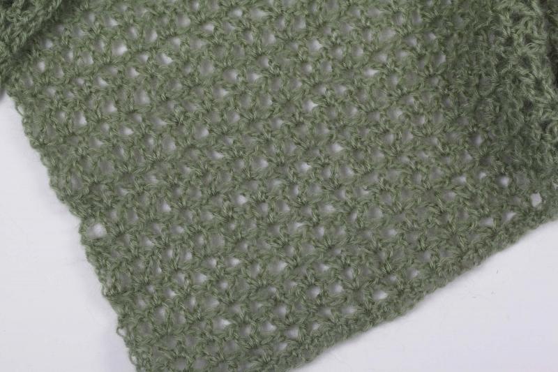 Kleinesbild - XL Stola gehäkelt federleicht: Wolle mit Mohair-Anteil Schultertuch, Häkelschal, Damen, Schal,