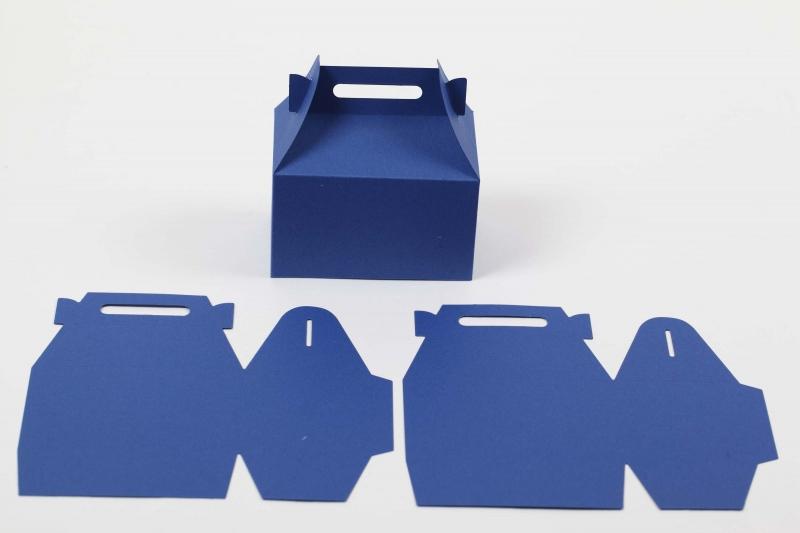 Kleinesbild - 20 gestanzte Rohlinge zum Selber basteln von 10 Boxen Schachteln Farbe frei wählbar Geschenkschachteln (ungeklebt)