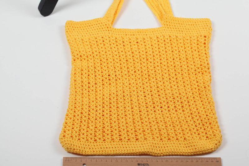 Kleinesbild - gehäkelte Einkaufstasche / Einkaufsnetz auch als Strandtasche zu verwenden