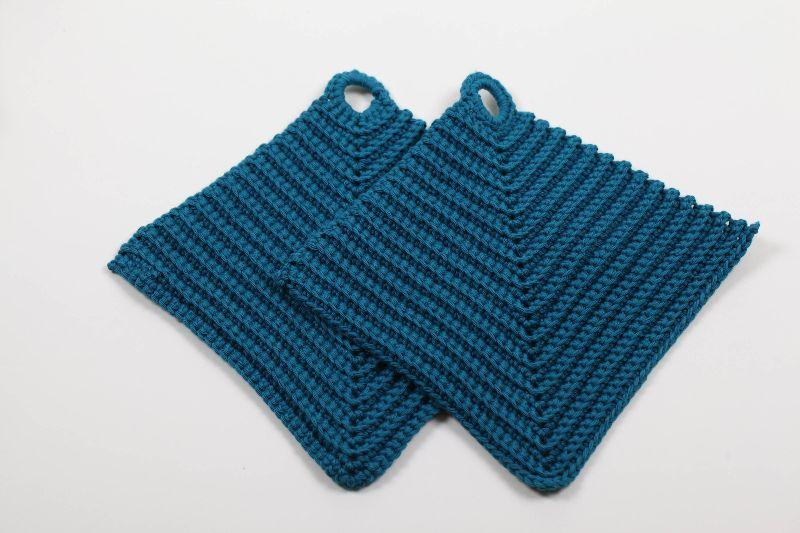 - 2er Set Topflappen aus 100% Baumwolle klassisch handgehäkelt - 2er Set Topflappen aus 100% Baumwolle klassisch handgehäkelt
