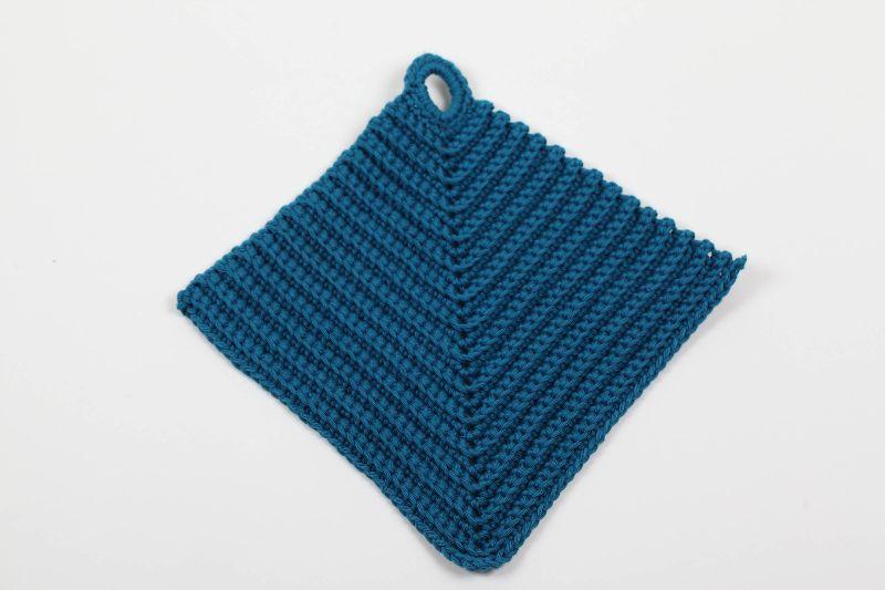 Kleinesbild - 2er Set Topflappen aus 100% Baumwolle klassisch handgehäkelt