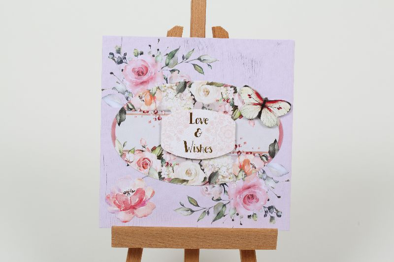 - romantische Grußkarte 3D Karte in Handarbeit hergestellt  - romantische Grußkarte 3D Karte in Handarbeit hergestellt