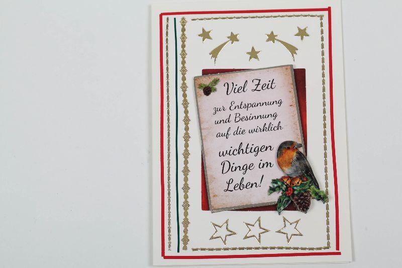 - außergewöhnliche Weihnachtskarte in 3D Zeit für die wirklichen wichtigen Dinge - außergewöhnliche Weihnachtskarte in 3D Zeit für die wirklichen wichtigen Dinge