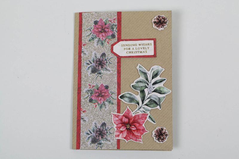 - schlichte Weihnachtskarte im Vintage-Style - schlichte Weihnachtskarte im Vintage-Style