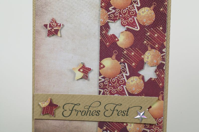Kleinesbild - klassische Weihnachtskarte in aufwändiger Handarbeit hergestellt