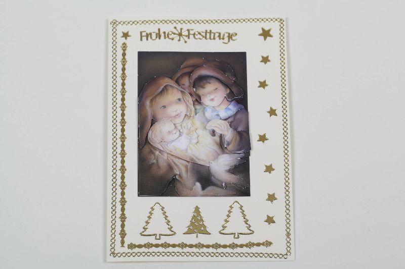 - klassische Weihnachtskarte mit 3D-Motiv in aufwändiger Handarbeit hergestellt - Unikat  - klassische Weihnachtskarte mit 3D-Motiv in aufwändiger Handarbeit hergestellt - Unikat