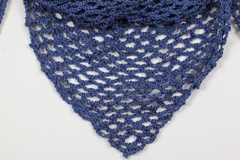 Kleinesbild - Dreieckstuch; gehäkeltes Schultertuch, Tuch, Stola luftig leicht, 100 % Baumwolle, perfekt für den Sommer