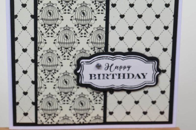 Kleinesbild - edle und romantische Geburtstagskarte Glückwunschkarte Grußkarte Geburtstag in Handarbeit hergestellt