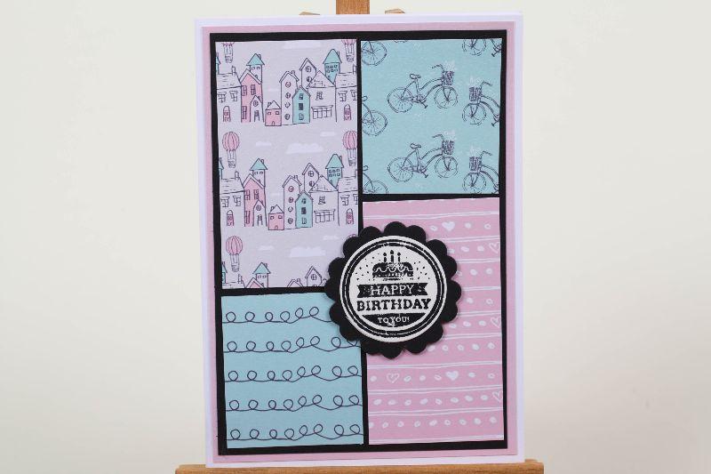 -  verspielte Geburtstagskarte Glückwunschkarte Grußkarte Geburtstag in Handarbeit hergestellt -  verspielte Geburtstagskarte Glückwunschkarte Grußkarte Geburtstag in Handarbeit hergestellt