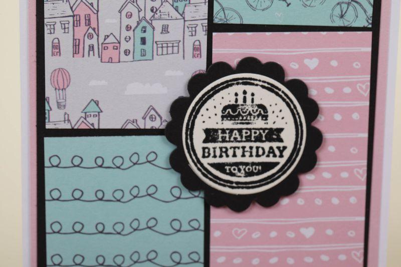 Kleinesbild -  verspielte Geburtstagskarte Glückwunschkarte Grußkarte Geburtstag in Handarbeit hergestellt