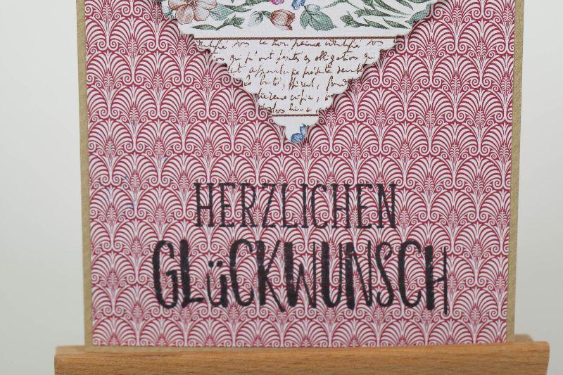 Kleinesbild - Herzliche Glückwunschkarte in Handarbeit hergestellt für viele Anlässe