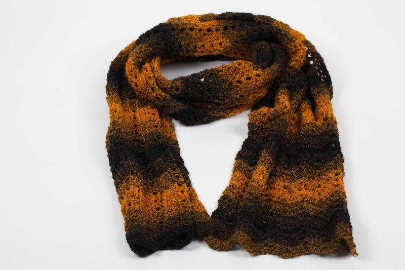 - XL 2 Meter-Schal gehäkelt weich und kuschelig im Winter - schöne Herbstfarben - XL 2 Meter-Schal gehäkelt weich und kuschelig im Winter - schöne Herbstfarben