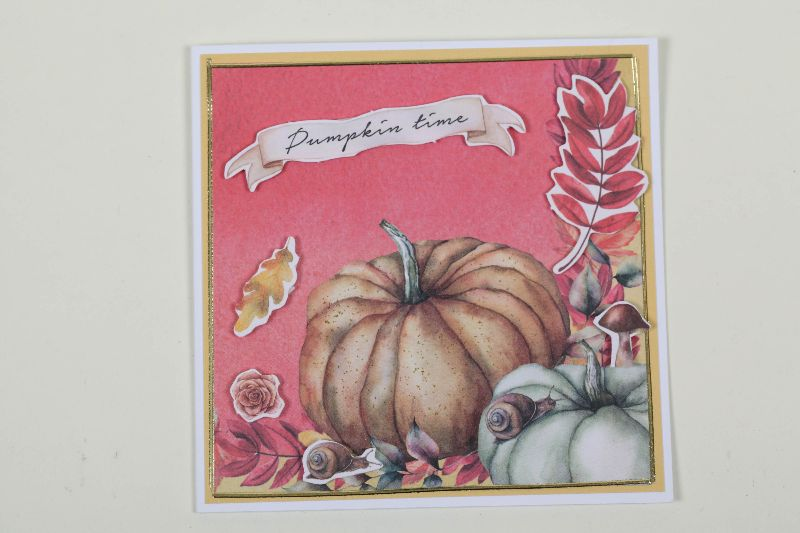 Kleinesbild - Grußkarte für den Herbst in 3D in Handarbeit hergestellt Herbstkarten im Set