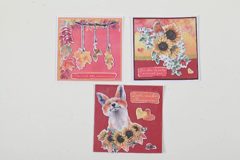 - 3er Set Grußkarte für den Herbst in 3D in Handarbeit hergestellt Herbstkarten - 3er Set Grußkarte für den Herbst in 3D in Handarbeit hergestellt Herbstkarten
