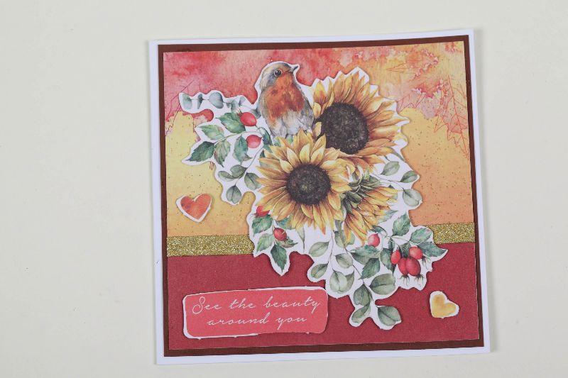 Kleinesbild - 3er Set Grußkarte für den Herbst in 3D in Handarbeit hergestellt Herbstkarten