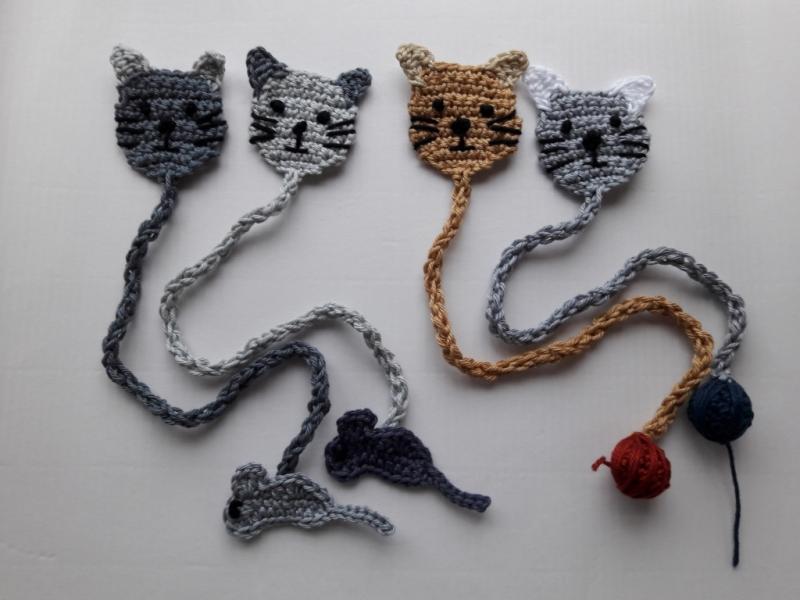 Applikationen Lesezeichen Verschiedene Katzen Zur Auswahl Von
