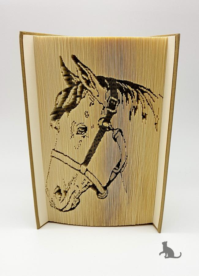 - Gefaltetes Buch mit Tiermotiv ☆ Pferd☆ handgefertigt mit festem Einband kaufen  - Gefaltetes Buch mit Tiermotiv ☆ Pferd☆ handgefertigt mit festem Einband kaufen