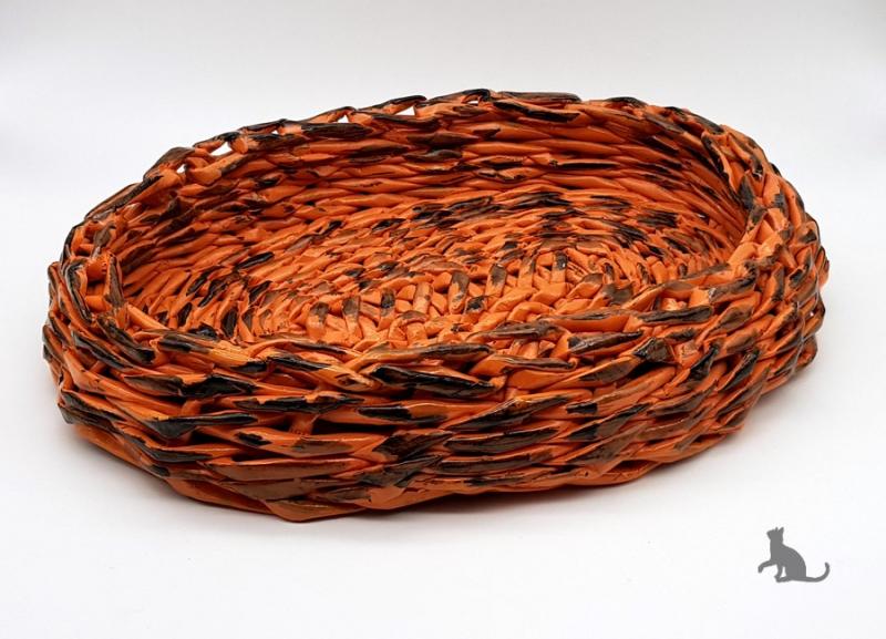 Kleinesbild - Schale oval handgefertigt aus Zeitungspapier ♡ praktisch und dekorativ ♡ als Geschenk oder für Zuhause