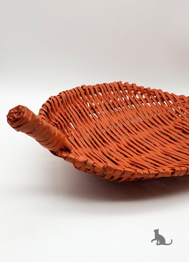 Kleinesbild - Schale Terracotta handgefertigt aus Zeitungspapier ♡ praktisch und dekorativ ♡ als Geschenk oder für Zuhause